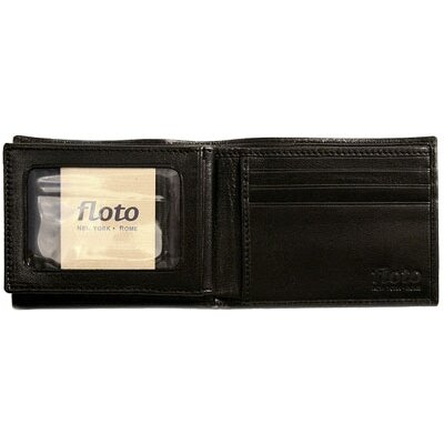 Floto Imports Firenze Leather Double Billfold ID Wallet