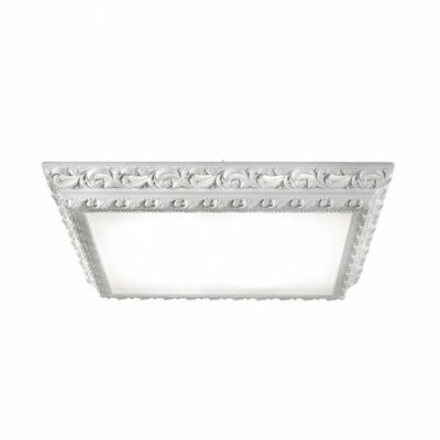 Masiero Arte 4 Light Square Flush Mount