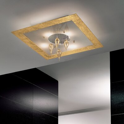 Masiero Klok 4 Light Flush Mount