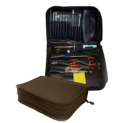 "CH Ellis 646 Compact Single Zipper Cordura Tool Case: 2 1/2"" H x 9 3/4"" W x 7 1/2"" D in Black"