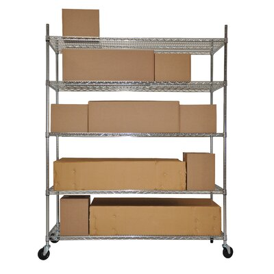 Trinity Five Tier NSF Extra Large Commercial Grade Shelving Rack in Chrome