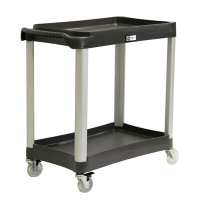 Trinity EcoStorage 2-Tier Commercial Grade Wheeled Utility Cart