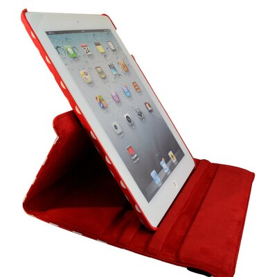 Bargain Tablet Parts Ipad 2 and Ipad 3 Polka Dot Rotating Case