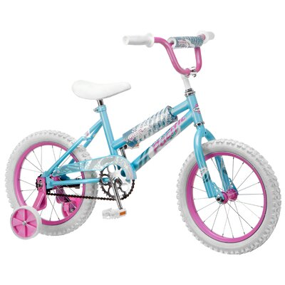 "Pacific Girl's 16"" Gleam Cruiser Bike with Training Wheels"
