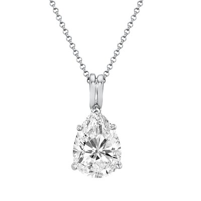Diamonair Cubic Zirconia Pear Pendant