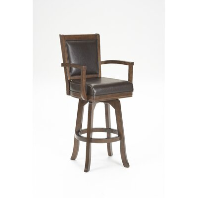 "Hillsdale Furniture Ambassador 30"" Swivel Bar Stool in Rich Cherry"