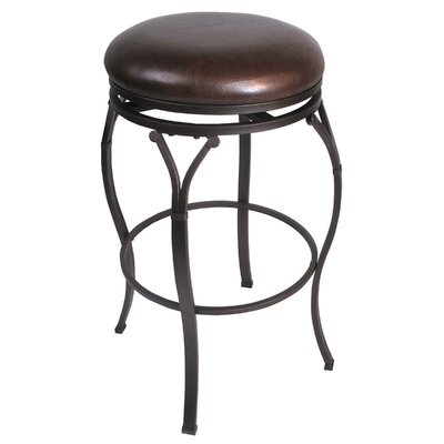 "Hillsdale Furniture Lakeview 30"" Backless Bar Barstool in Brown"