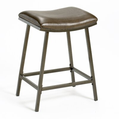 "Hillsdale Furniture Saddle 24"" Barstool with Nested Leg in Brown Copper"