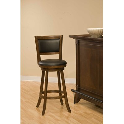 Dennery Swivel Bar Stool in Cherry