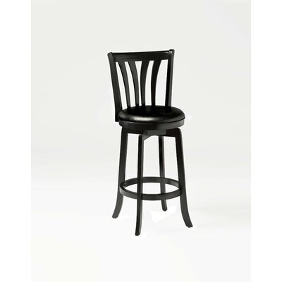 Savana Swivel Bar Stool in Black