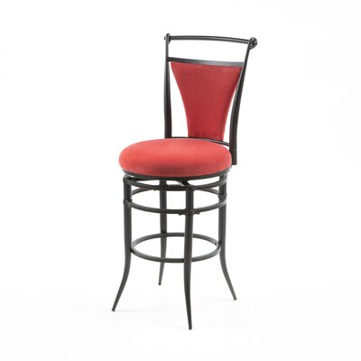 "Hillsdale Furniture Cierra 26"" Swivel Counter Stool - Flame Fabric"