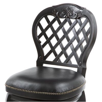 "Hillsdale Furniture Braxton 26"" Black Leather Swivel Counter Stool"