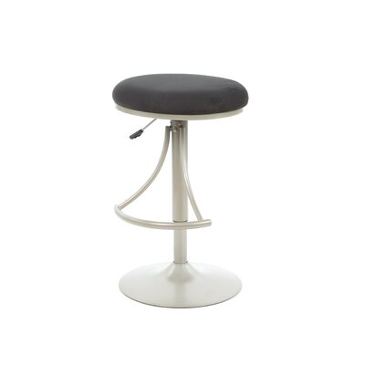 Hillsdale Venus Adjustable Backless Swivel Bar Stool - Black Faux Suede