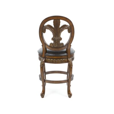 "Hillsdale Furniture Fleur De Lis 25"" Triple Leaf Swivel Counter Stool"