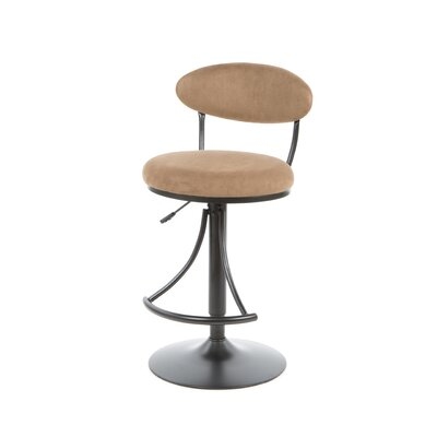 Hillsdale Venus Adjustable Faux Suede Swivel Bar Stool