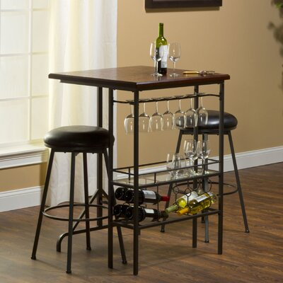 Hillsdale Furniture Bardstown 3 Piece Bar Set