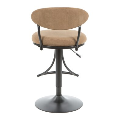 Hillsdale Furniture Venus Adjustable Faux Suede Swivel Bar Stool