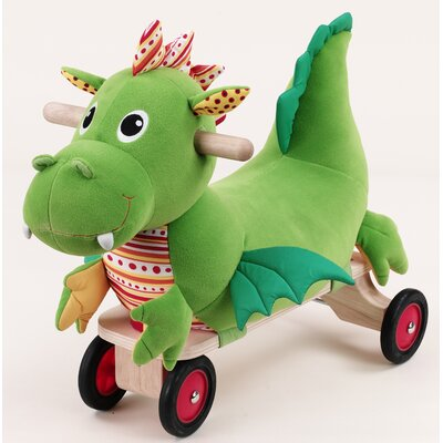 Wonderworld Puffy Dragon Four-Wheeled Plush Ride-On