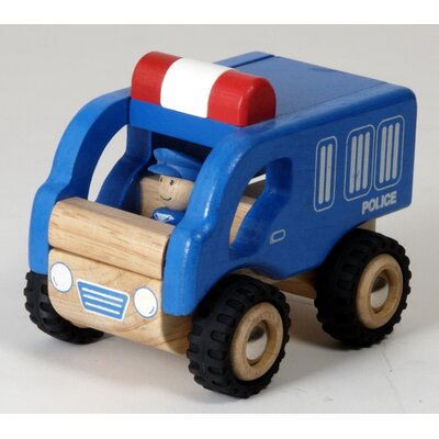 Wonderworld Mini Police Car Wooden Vehicle