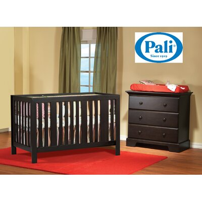 PALI Pali Imperia Forever Crib and Volterra 3 Drawer Dresser Two Piece Set in Mocacchino