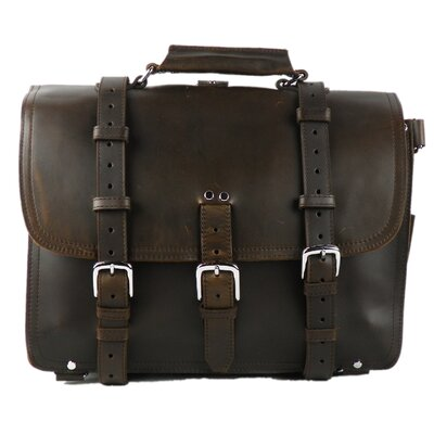 Classic Leather Briefcase Backpack