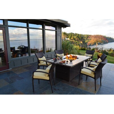 South Beach 7 Piece Fire-Dining Set