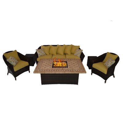 Outdoor Innovation Bellamar 6 Piece Deep Seating Group with Cushion