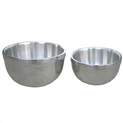 2 Piece Double Wall Stainless Steel Mixing Bowl Set
