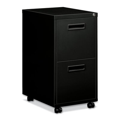 "Basyx by HON Embark Series File/File Pedestal File with 2 ""M"" Pull Drawers, 22D"