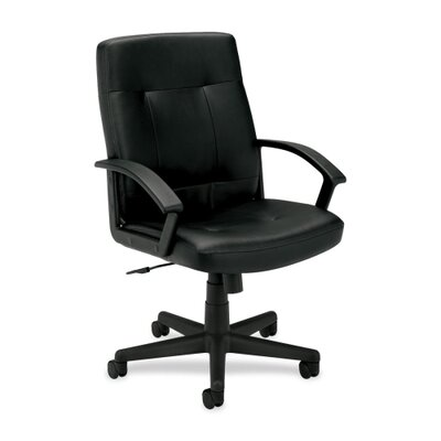 Basyx by HON Leather Mid-Back Executive Chair