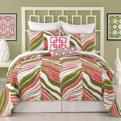 Trina Turk Residential Tiger Leaf Coverlet Collection