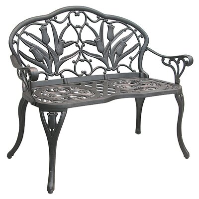 Innova Hearth and Home Tulip Cast Iron/Aluminum Garden Bench