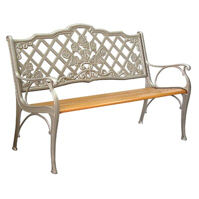 Innova Hearth and Home Rosette Cast Aluminum Park Bench