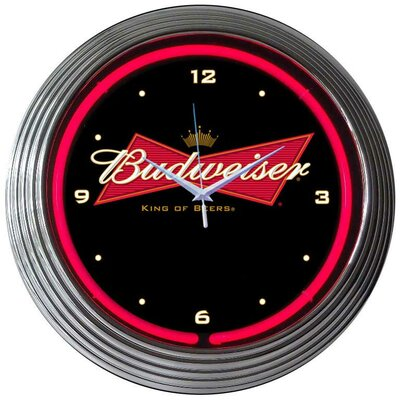 Neonetics Budweiser Bowtie Neon Clock