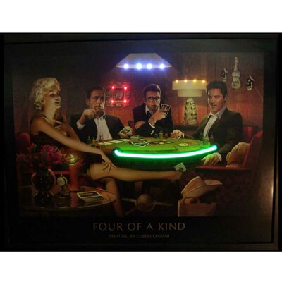 Neonetics 4 of a Kind Neon LED Poster Sign