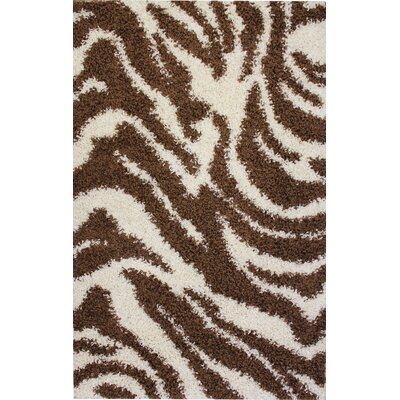 Infinity Home Madison Shag Brown Safari Rug