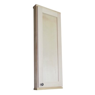 "WG Wood Products Shaker Series 37.5"" x 15.25"" Wall Mount Medicine Cabinet"