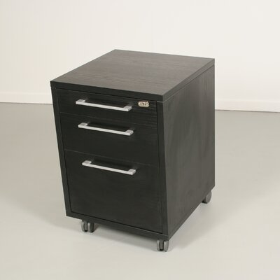Tvilum Pierce Office Mobile File with Three Drawer in Coffee