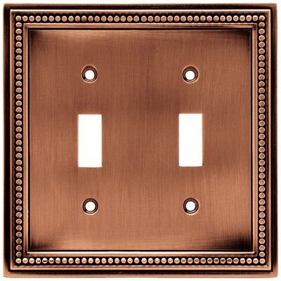 Brainerd Beaded Double Switch Wall Plate