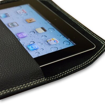 Falcon Gray Leather iPad Case