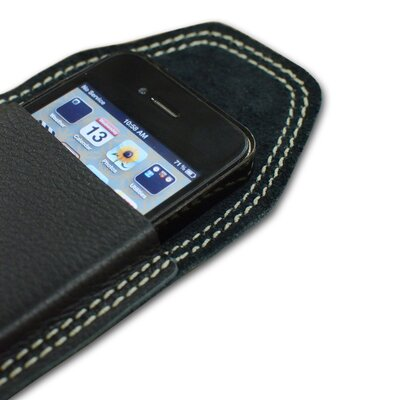 Falcon Gray Leather iPhone Case