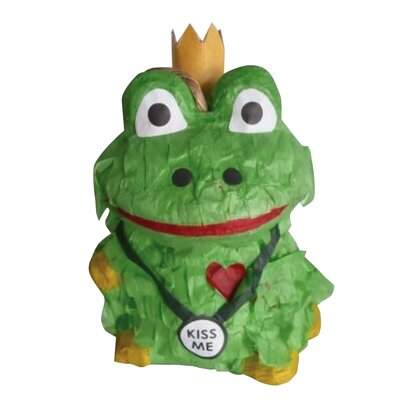 Polly Wanna Pinatas Frog Prince Bird Toy