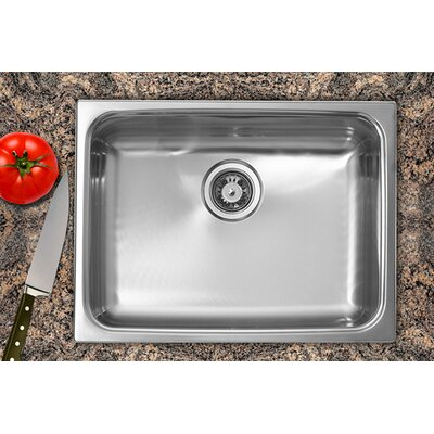 "Ukinox 24"" x 18"" Single Bowl Dual Mount Kitchen Sink"