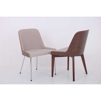 Nuans Hudson Side Chair with Wood Legs