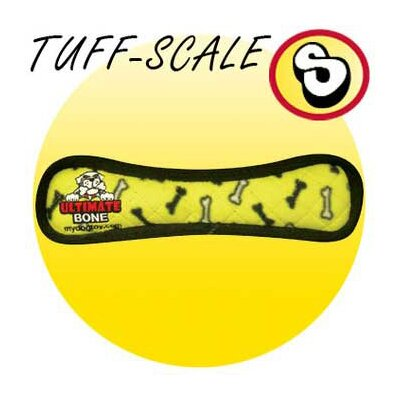 Tuffy's Pet Products Ultimate Bone Dog Toy in Yellow