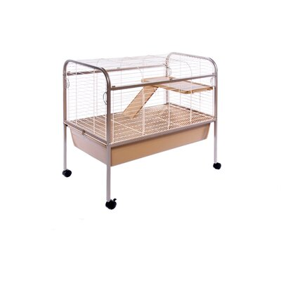 Jumbo Small Animal Cage on Stand with Ramp/Platform