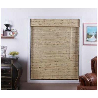 Top Blinds Arlo Blinds Bamboo Roman Shade in Petite Tropical Rustic