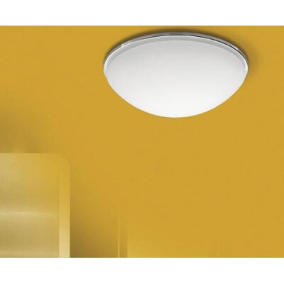 Meltemi Karma Flush Mount in White or Chrome