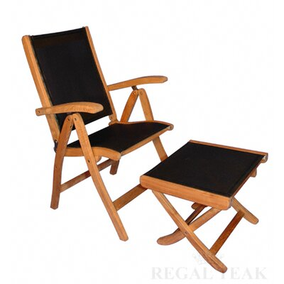 Regal Teak Reclining Sling Arm Chair