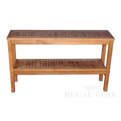 Regal teak two level buffet sideboard reviews wayfair for Sideboard regal